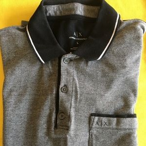 A/X Armani Exchange grey/black polo shirt